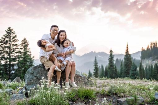 Mt Rainier Family Photos Eden Bao Seattle Family Photographer