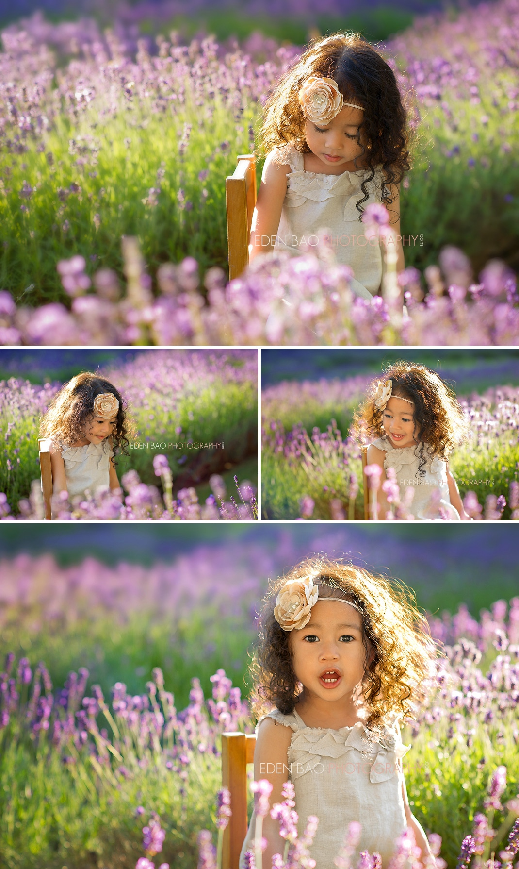 Vancouver BC Child Photographer Eden Bao | Angeline in the Lavender Fields