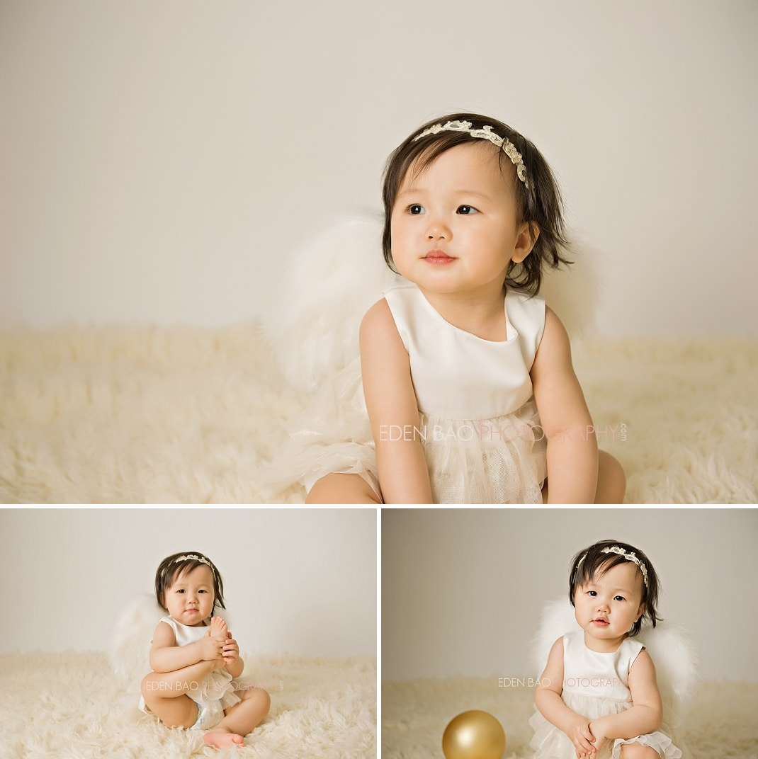 Vancouver BC Baby Photographer Eden Bao Baby Christmas holiday angel wings