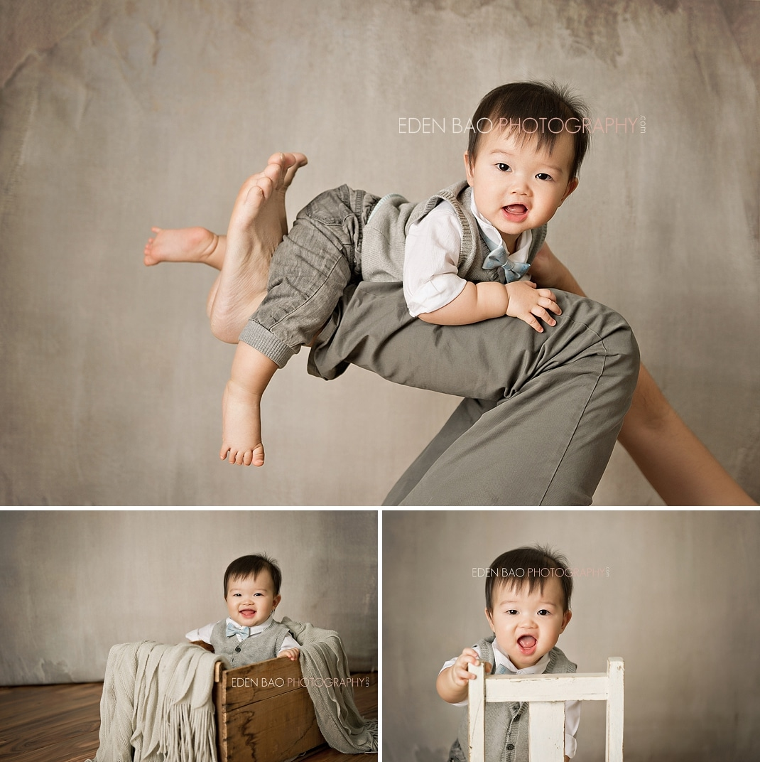 Vancouver BC Baby Photographer Eden Bao   Marcus concrete background apple crate chair