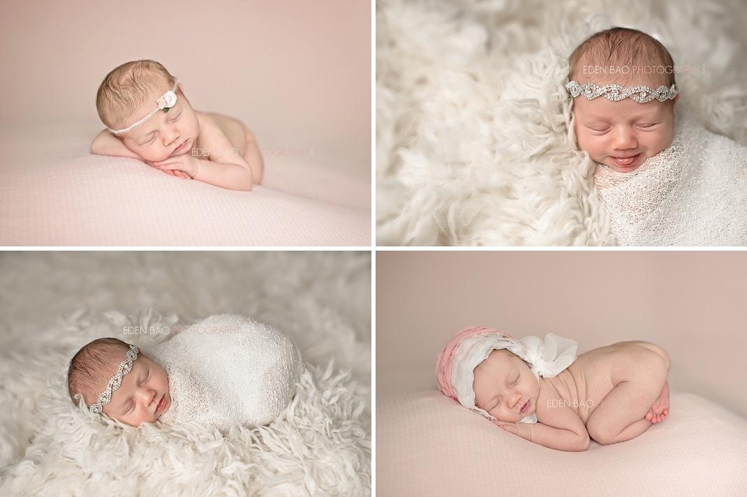 Delta BC Newborn Photographer Eden Bao Ariana pink white