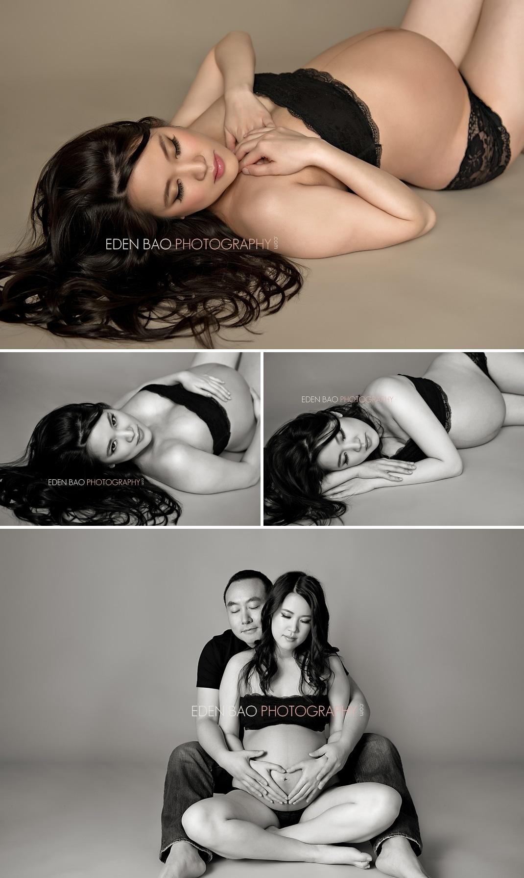 Vancouver BC Maternity Photographer Eden Bao | lingerie boudoir