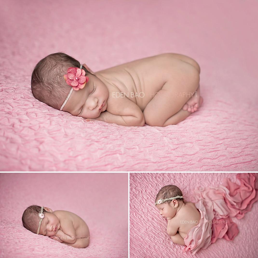 Vancouver BC Newborn Photographer Eden Bao   Aarya pink