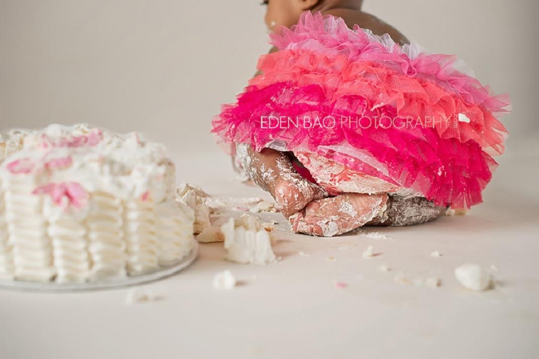 Vancouver BC Baby Photographer Eden Bao   Indianna smash cake fushcia pink tutu