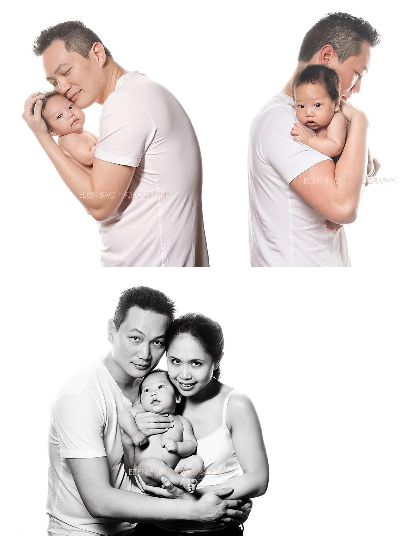 Vancouver BC Newborn Photographer Eden Bao  Tristan high key white background black and white