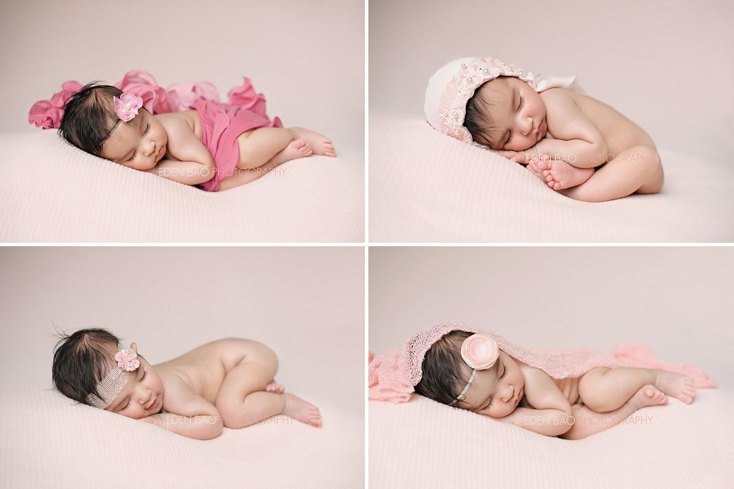 Richmond BC Newborn Photographer Eden Bao | Zara pink backdrop