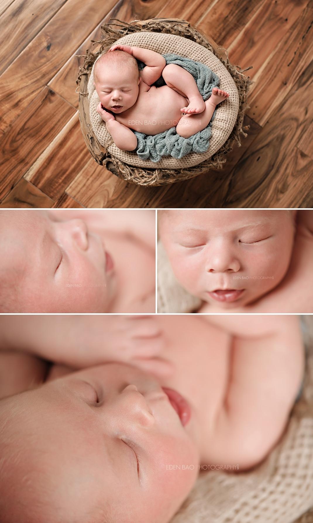 Burnaby BC Newborn Photographer Eden Bao Luka macro close up shots