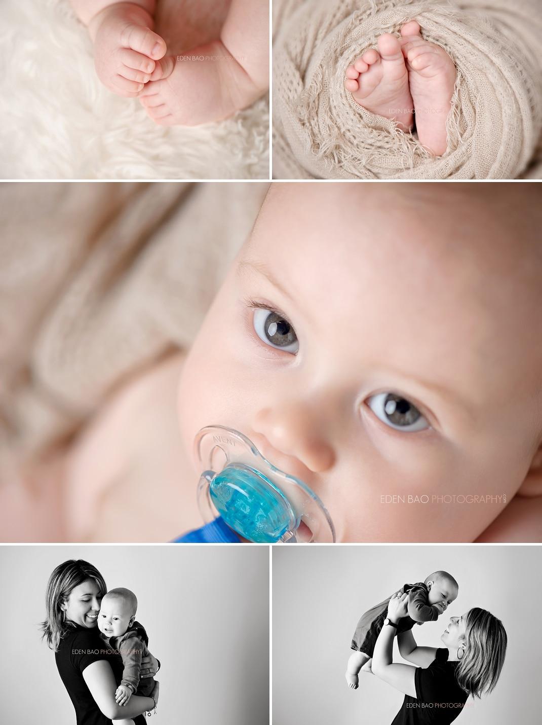 Vancouver BC Baby Photographer Eden Bao baby feet mom baby