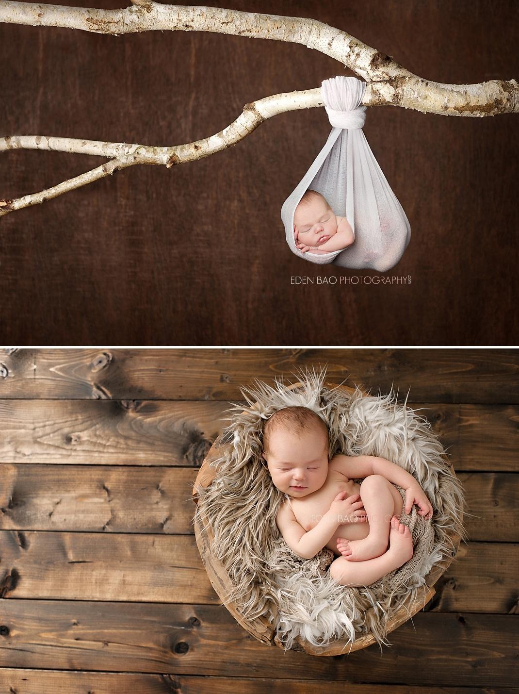 Vancouver BC Newborn Photographer Eden Bao Wood Branch