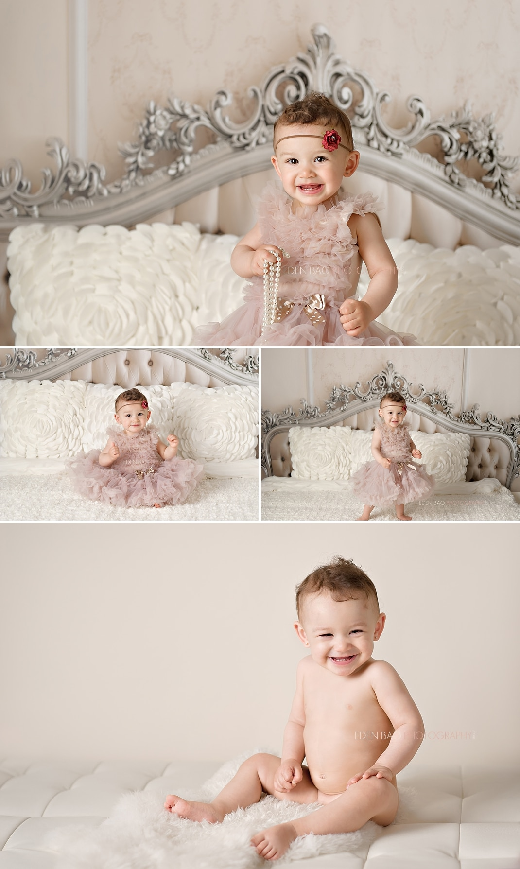Surrey Vancouver BC Baby Photographer elegant headboard