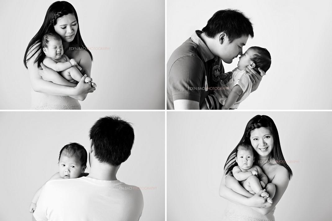 Richmond BC Baby Photographer Jayden 3 months parent baby