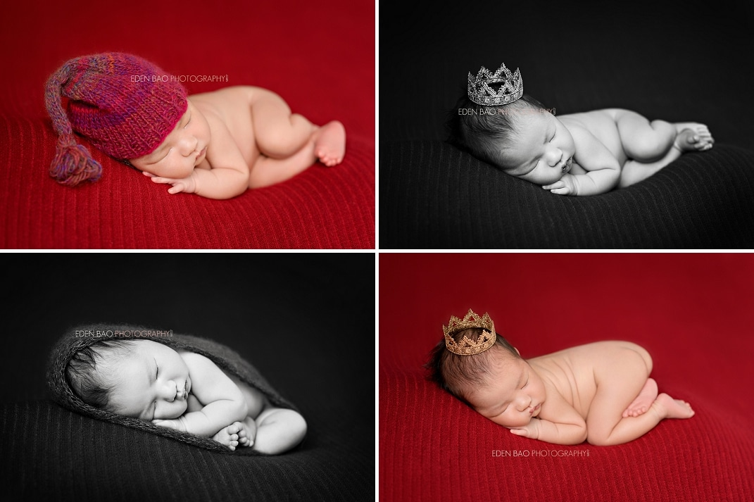 Vancouver BC Newborn Photographer red crown