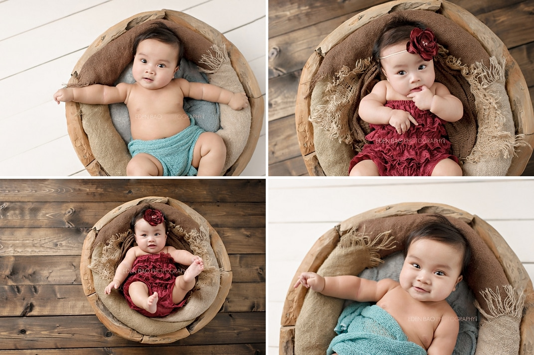 New Westminster Vancouver BC Twin Baby Photographer wooden bowl]
