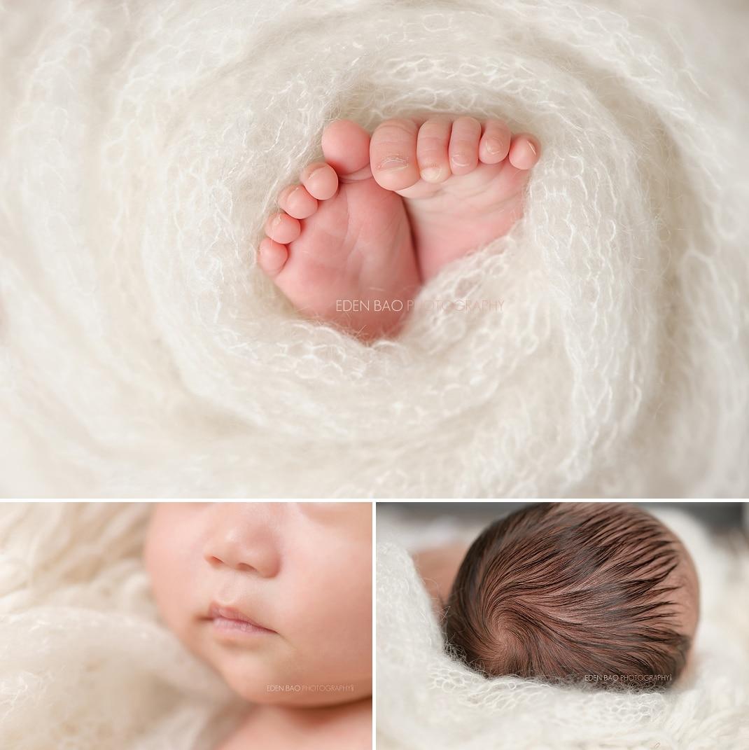 West Vancouver BC Newborn Photographer close up macros shots