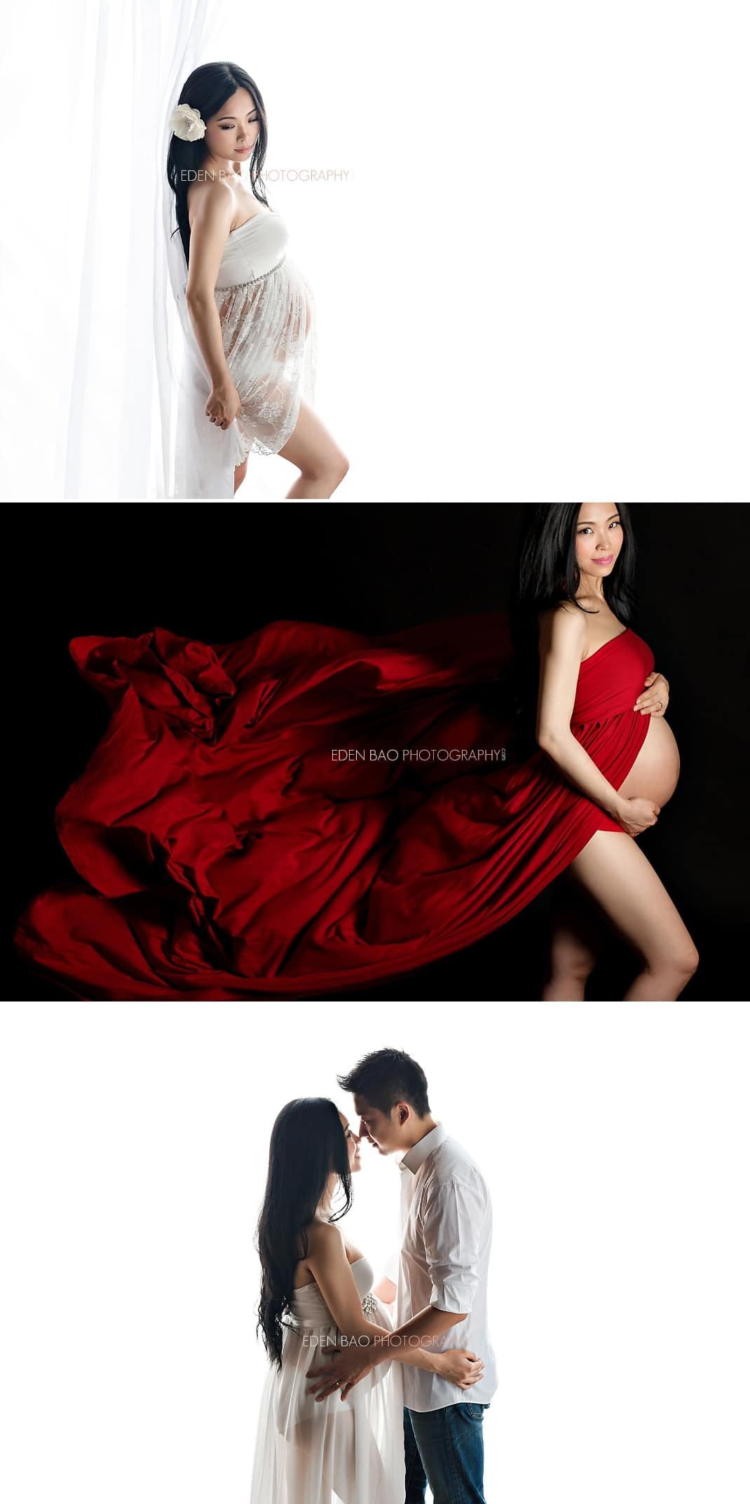 Coquitlam Vancouver BC Maternity Photographer red dress