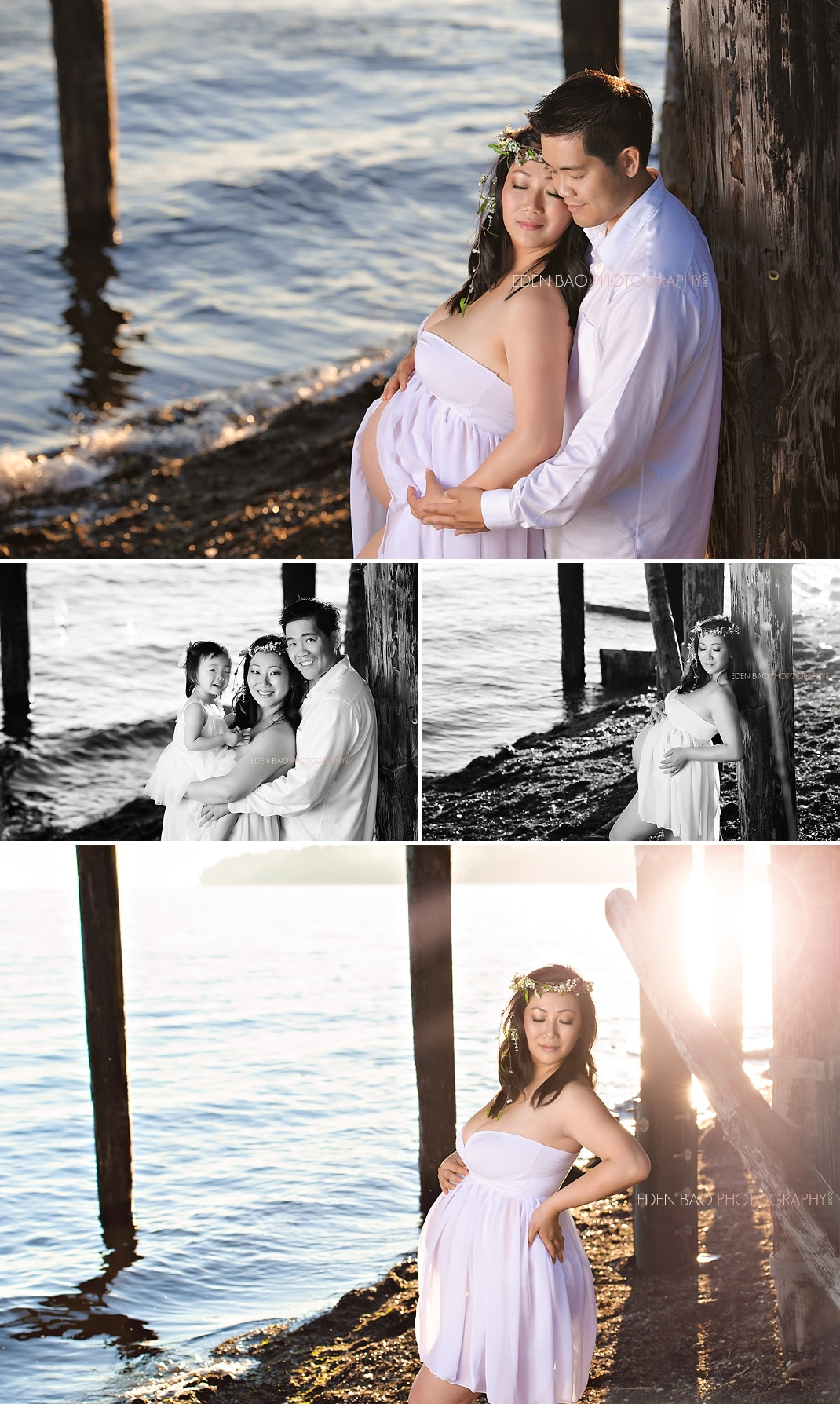Vancouver BC Beach Maternity Photographer White Rock Crescent Beach Pier