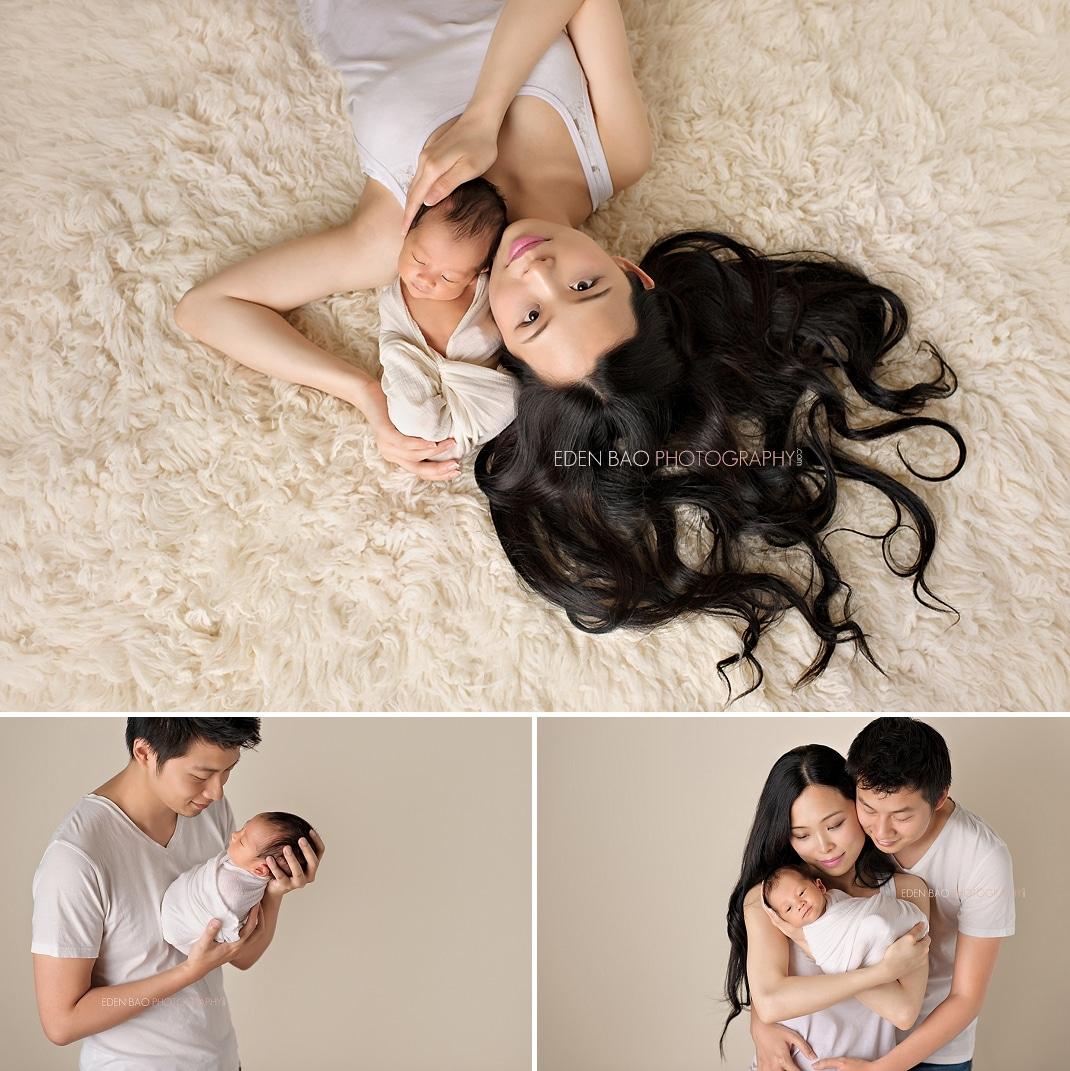 Vancouver BC Newborn Photographer family parent baby