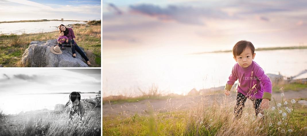 Seattle WA Child Photographer Garry Point Park Beachside