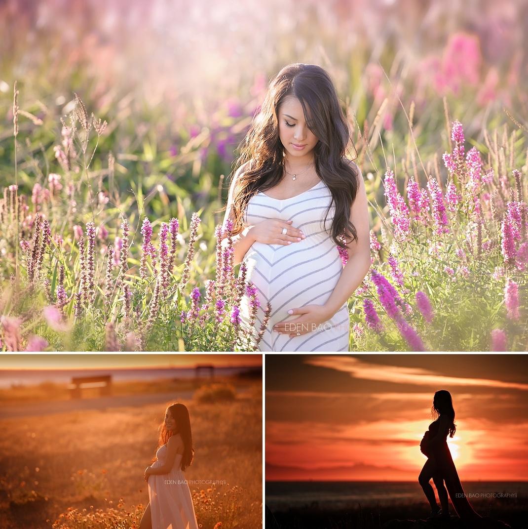 Seattle WA Maternity Photographer Outdoors Garry Point Park Richmond BC