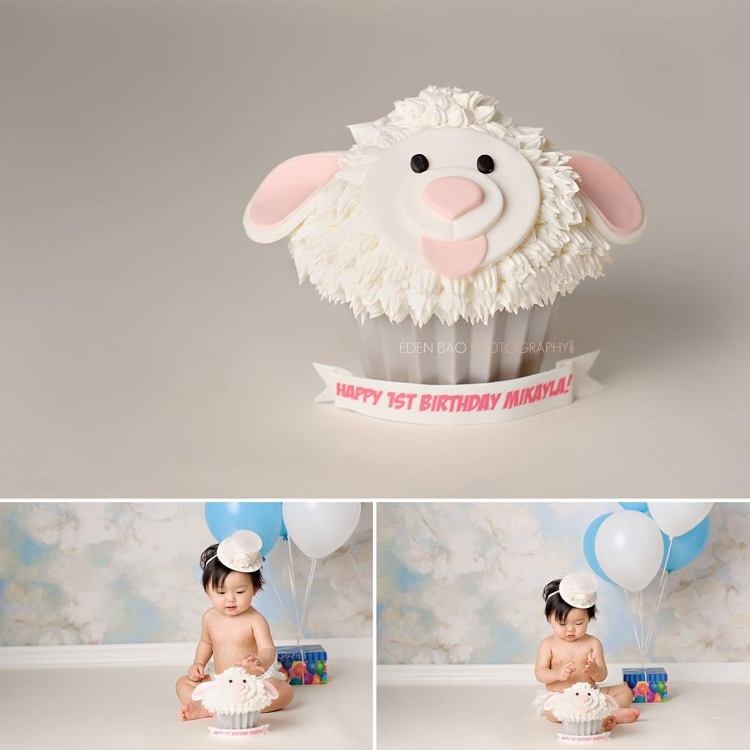 Seattle WA Baby Photographer cake smash 1