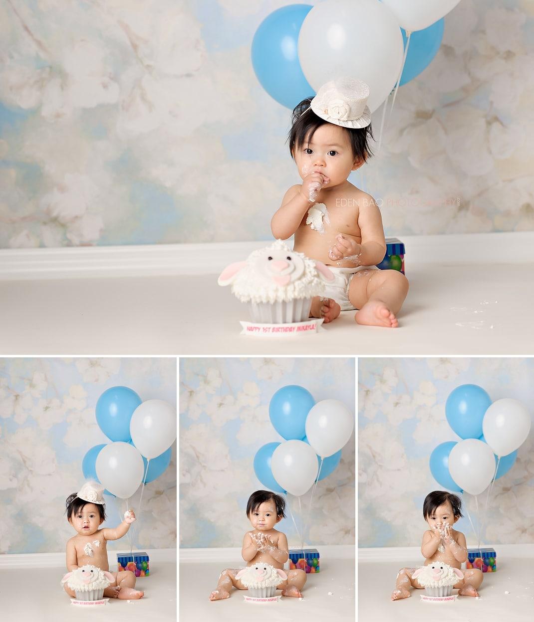 Seattle WA Baby Photographer cake smash 2