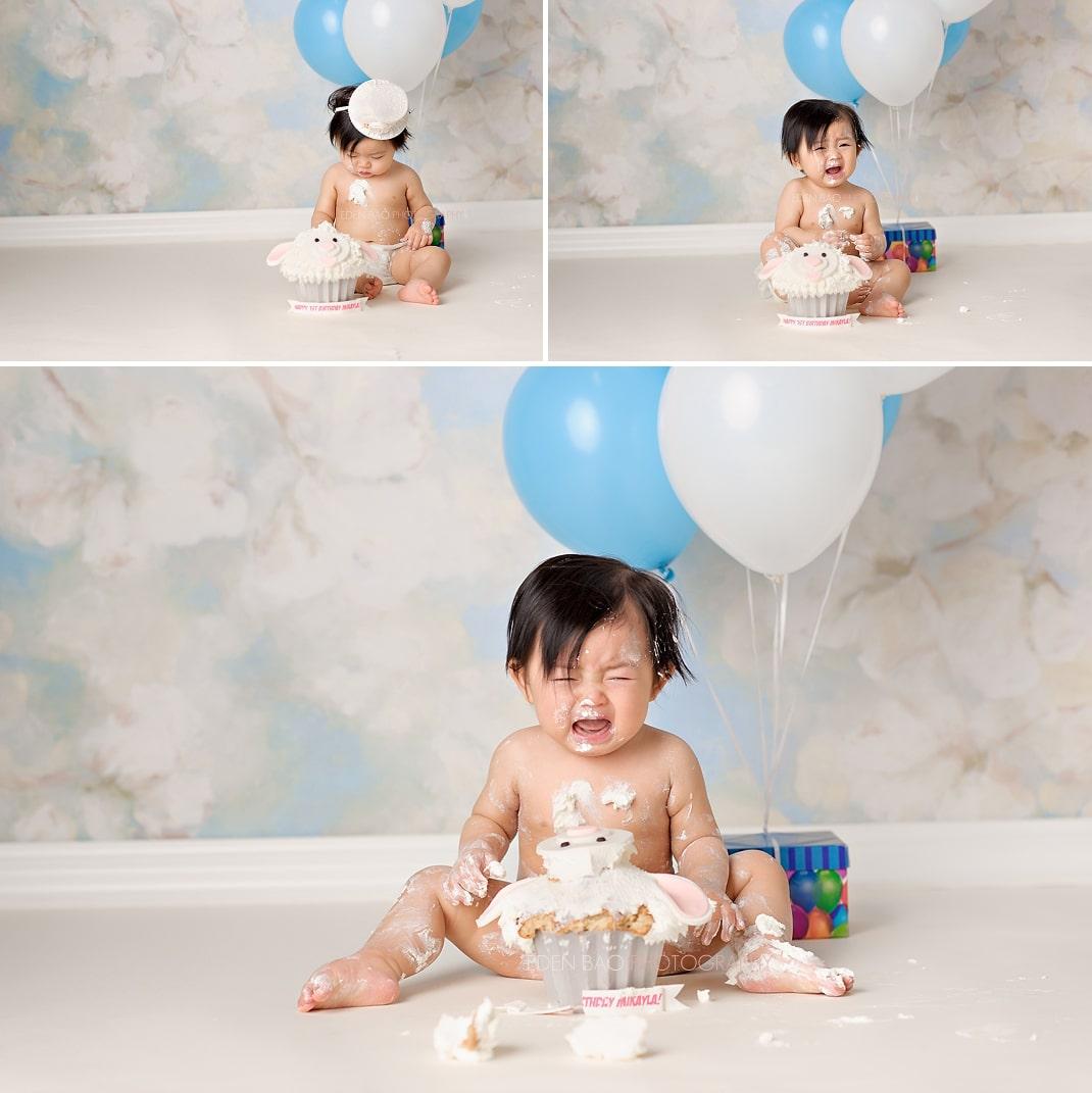 Seattle WA Baby Photographer cake smash 3
