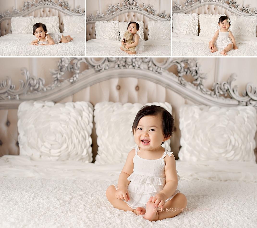 Seattle WA Baby Photographer elegant headboard
