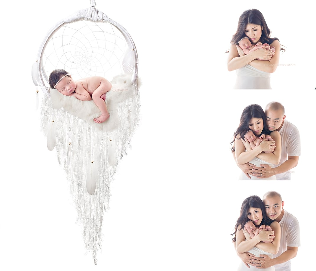 Seattle WA Newborn Photographer Dreamcatcher white