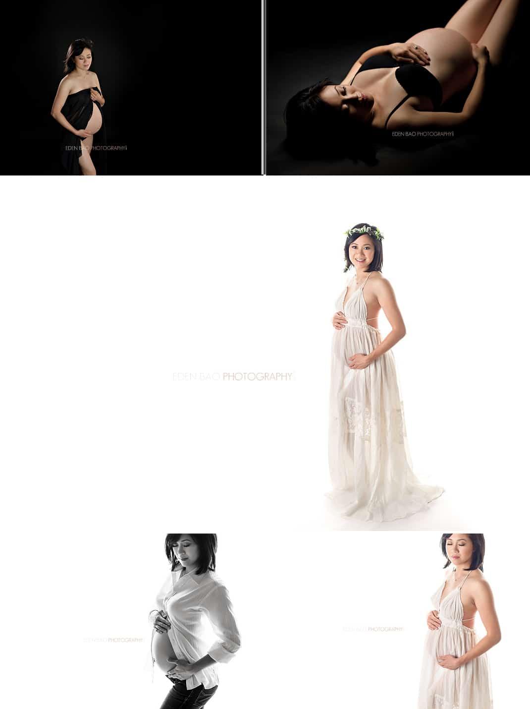 Seattle WA Maternity Photographer high key low key