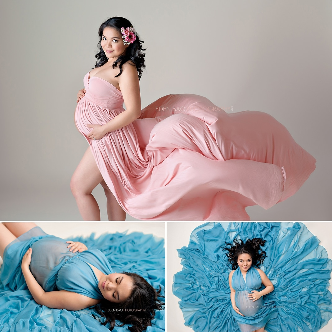 Seattle Maternity Photography flowing dress