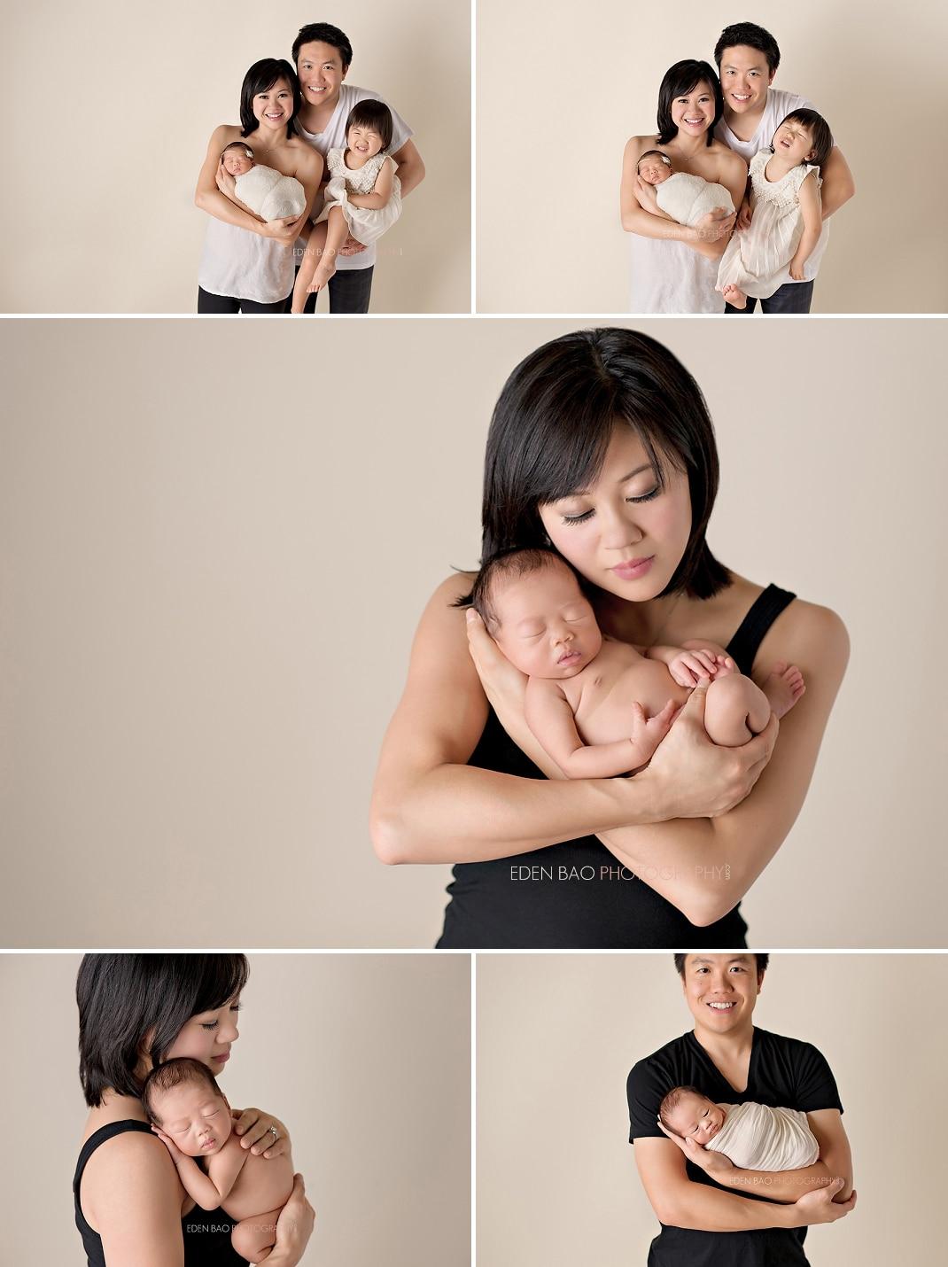 Newborn Photographer Seattle family parent baby