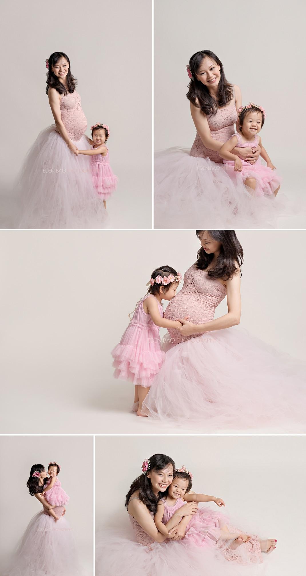 Seattle Maternity Photographer dusty pink tutu