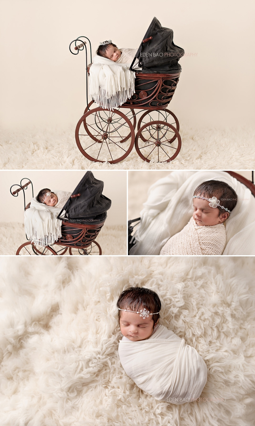 Newborn Photographer Seattle Red Baby Carriage