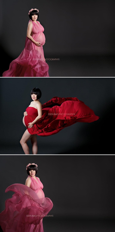 Seattle Maternity Photographer grey background