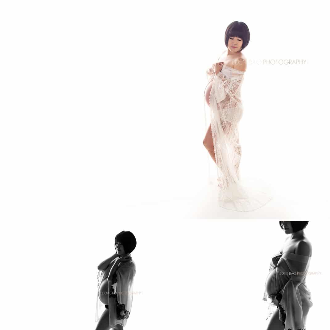 Seattle Maternity Photographer white background