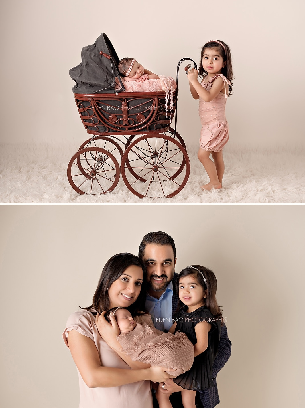 Seattle Newborn Photographer red carriage