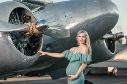 Airplane Airport Maternity Photo Shoot Eden Bao
