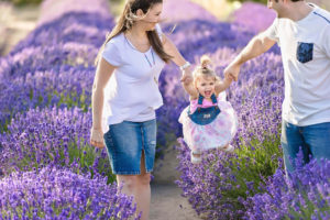 Family Photo Lavender Fields Eden Bao