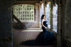 Elegant black dress maternity cecil green eden bao