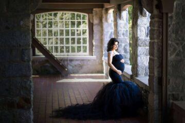 Elegant black dress maternity cecil green eden bao