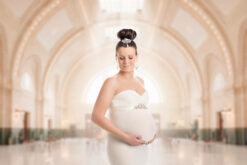 Sound Transit King Train Station Seattle Maternity Photographer