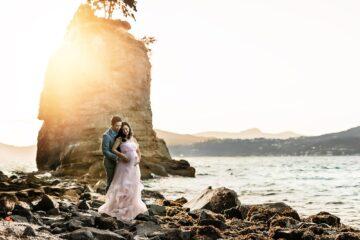 Siwash Rock Stanley Park Maternity Eden Bao