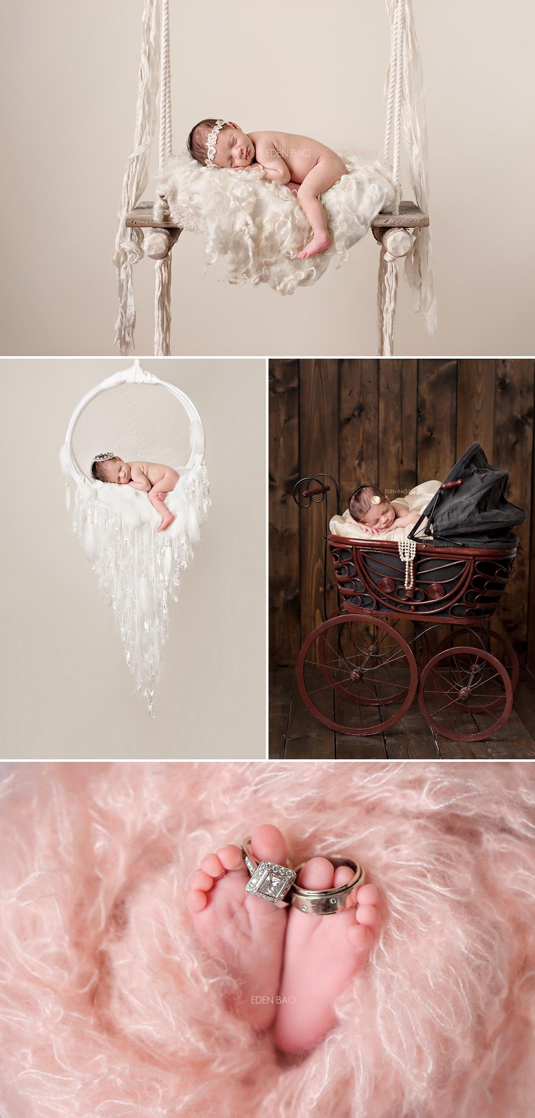 Newborn Photography Seattle dreamcatcher swing