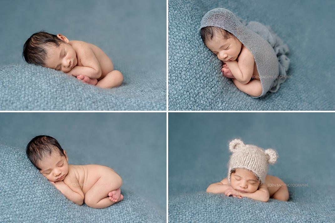 Infant Photos Seattle blue backdrop