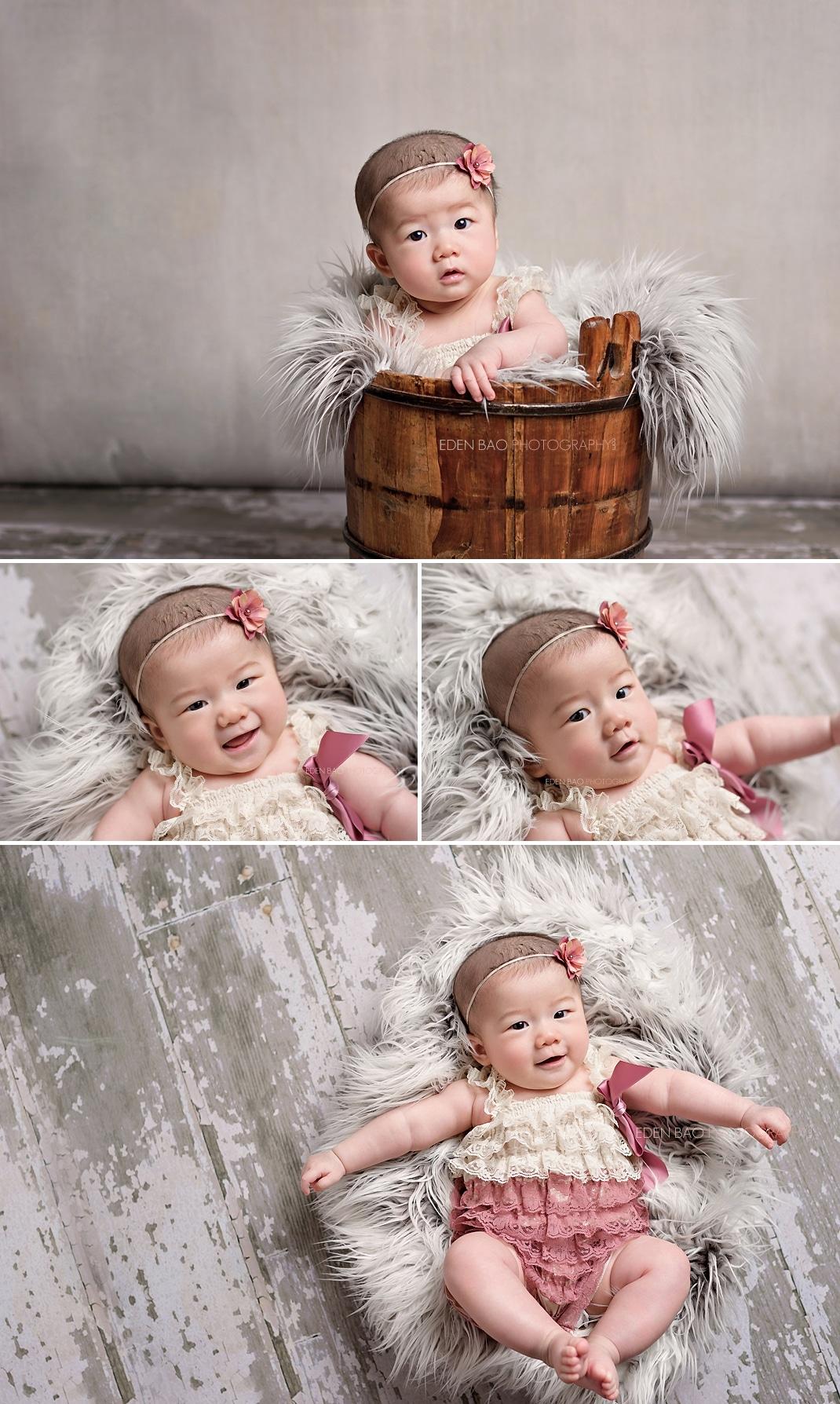 100 days Baby Photographer Bothell white bard flloors