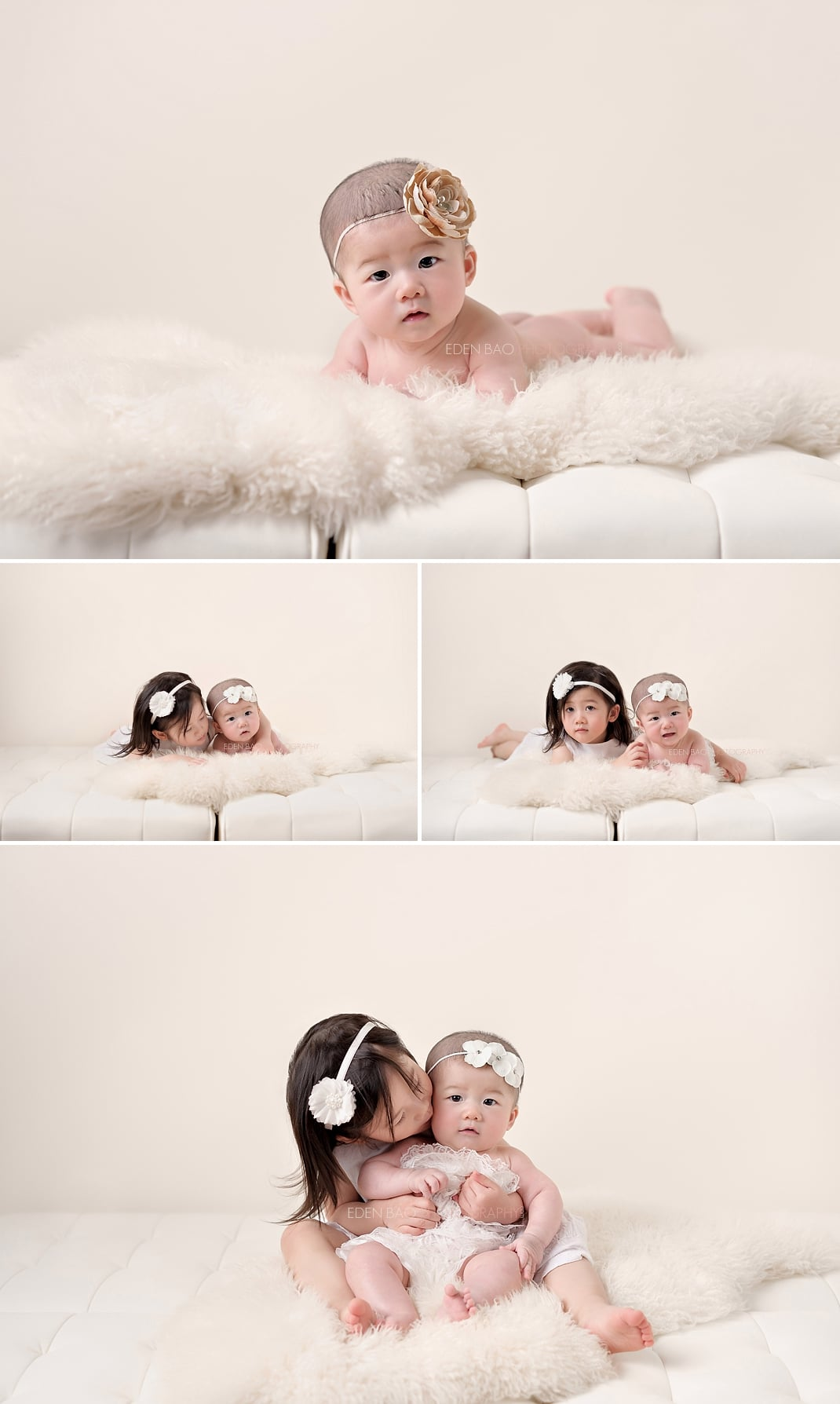 100 days Baby Photographer Mill Creek siblings
