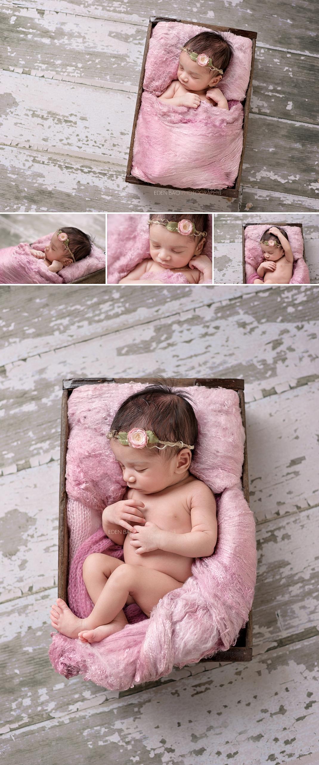 Kirkland WA Newborn Photographer white bard wood