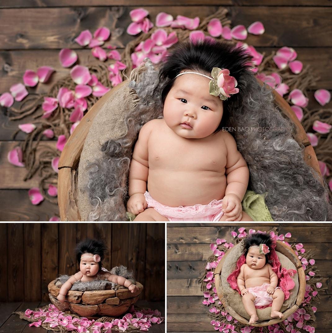 Baby Photographer Seattle 100 days wood bowl