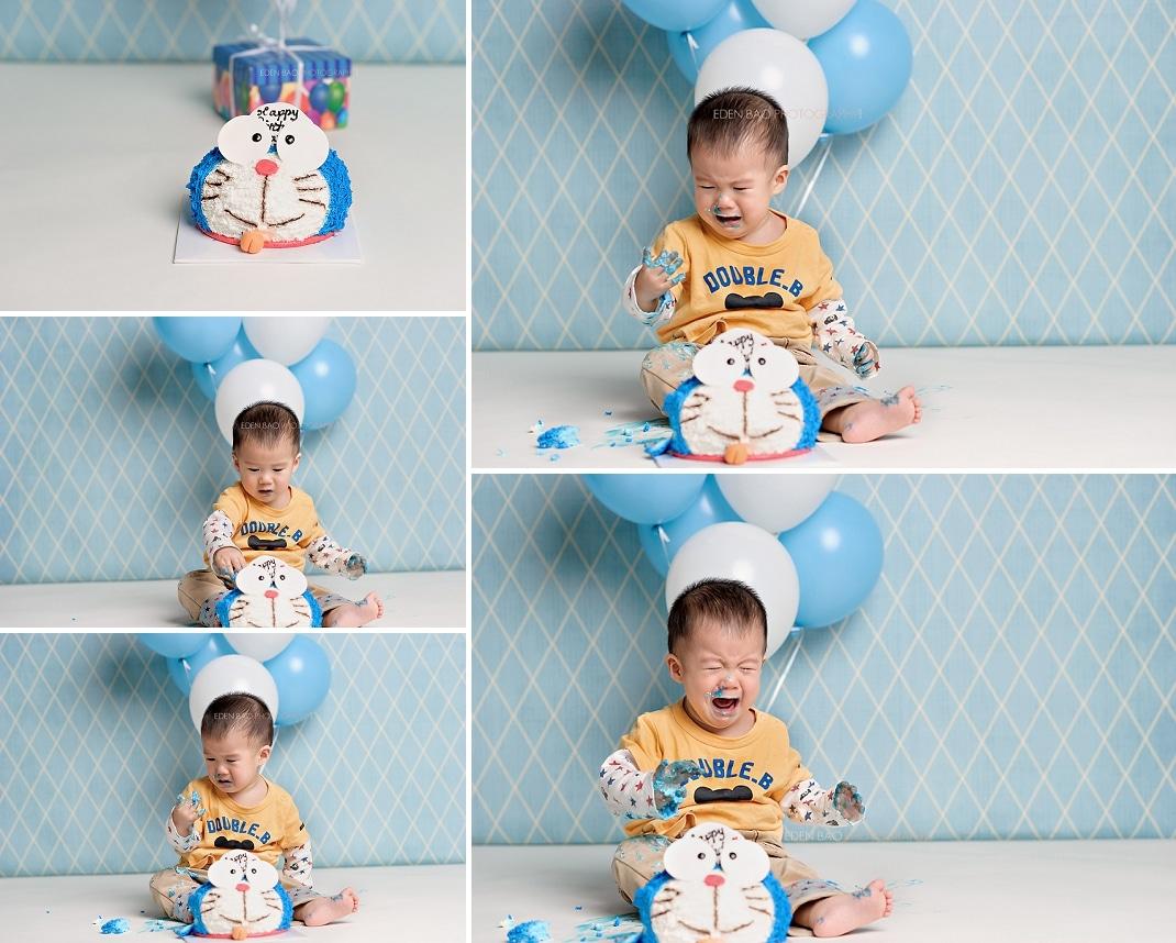 Baby Photographer Seattle cake smash