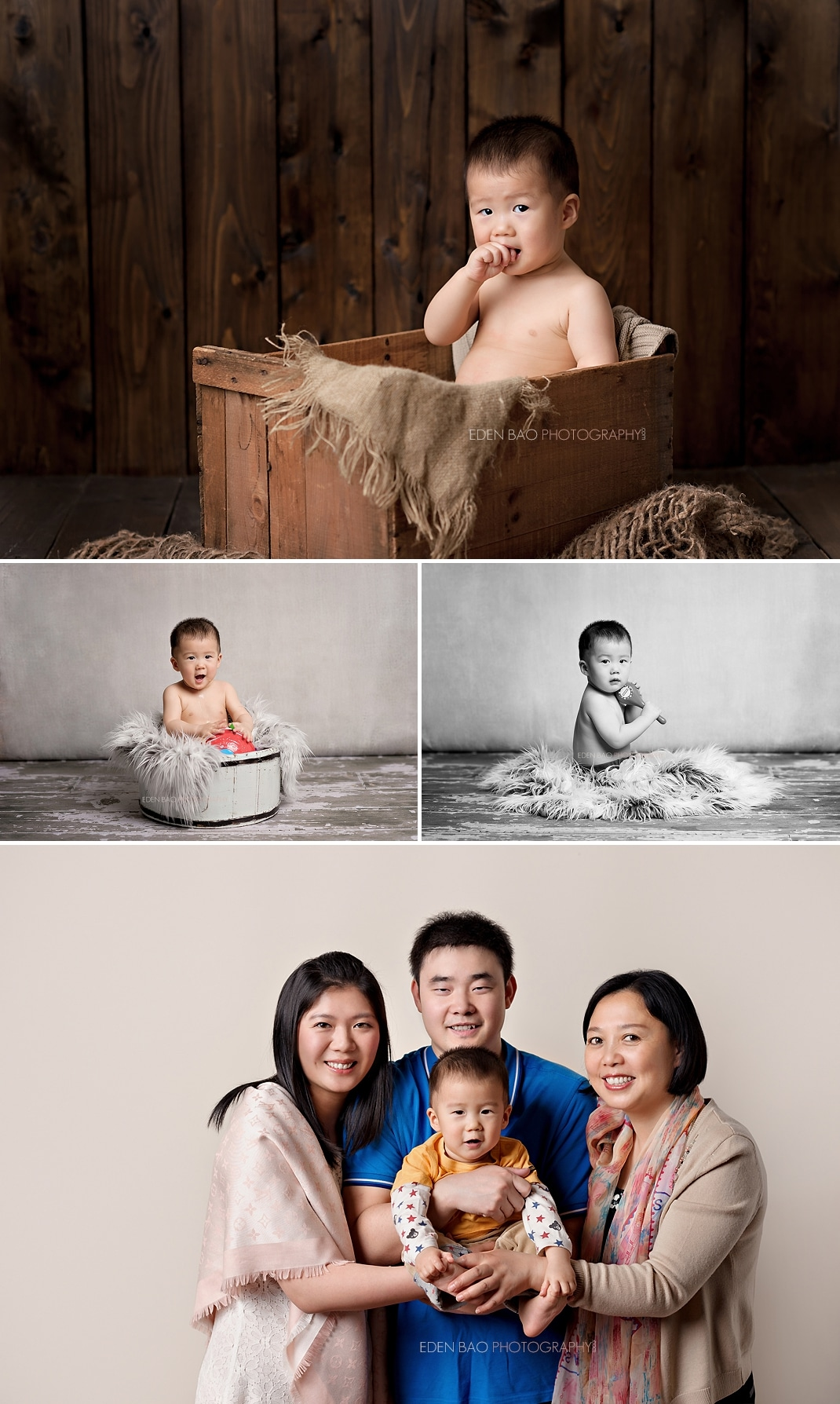 Baby Photographer Seattle wood background